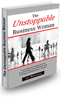 Liz's Book, The Unstoppable Business Woman. Book cover.